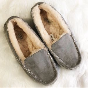 UGG• Gray Fur Slippers